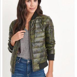 🍀 Brand Camo Down Bomber Jacket Camouflage heavy